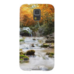 The beautiful waterfall in forest, autumn case for galaxy s5