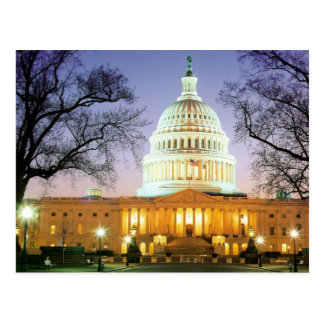 THE BEAUTIFUL WHITE HOUSE IN WASHINGTON POSTCARD