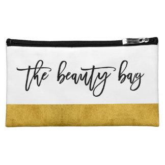 The Beauty Bag - Chic Handwritten Cosmetic | White