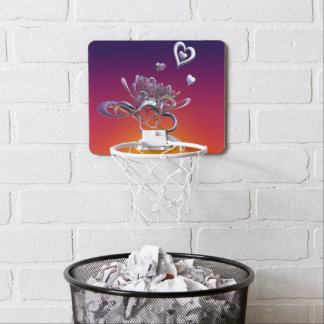 The Beauty of Hearts Mini Basketball Hoop