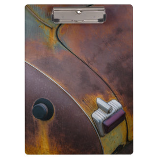 The beauty of texture of an aged vintage car clipboard