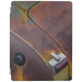 The beauty of texture of an aged vintage car iPad cover