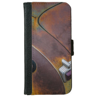 The beauty of texture of an aged vintage car iPhone 6 wallet case