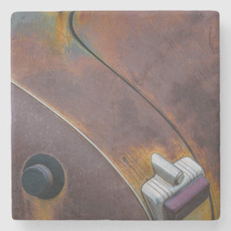 The beauty of texture of an aged vintage car stone coaster