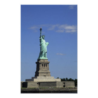 The beauty of the famous Statue of Liberty on Poster
