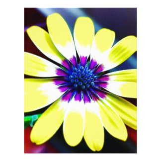 The Beauty of Yellow and Purple Custom Letterhead