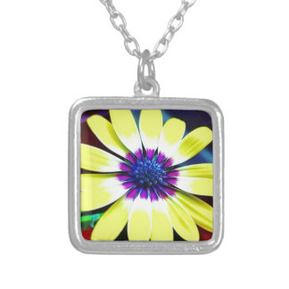The Beauty of Yellow and Purple Silver Plated Necklace