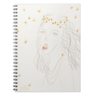 The Bee Girl Spiral Notebook