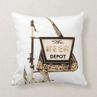 The Beer Depot Ann Arbor Michigan Original Photo Throw Pillow
