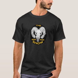 THE  BEER MAN SHOW Goat Skull T-shirt