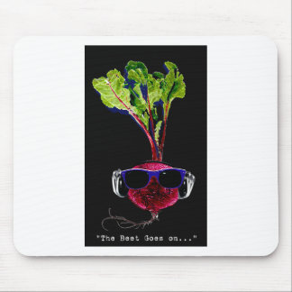 The beet goes on-dark mouse pad