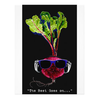 The beet goes on-dark personalized letterhead