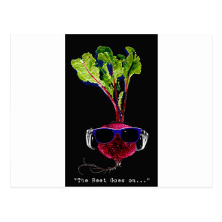 The beet goes on-dark postcard