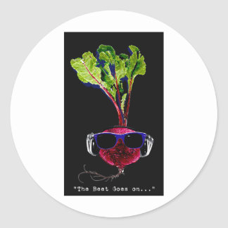 The beet goes on-dark stickers