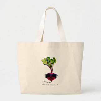 The beet goes on-light large tote bag