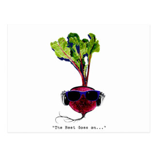 The beet goes on-light postcard
