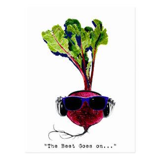 The beet goes on-light postcard