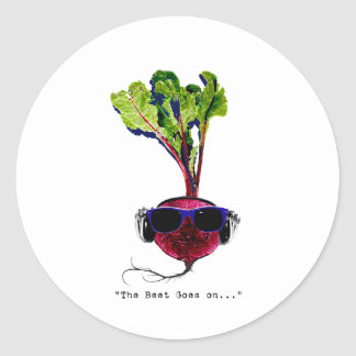 The beet goes on-light round stickers