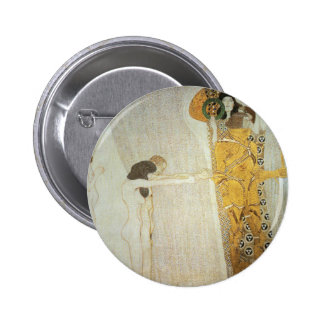 The Beethoven Frieze: The Longing for Happiness 2 Inch Round Button