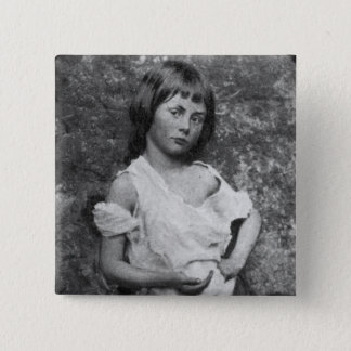 The Beggar Maid / Alice Liddell ~ 1859 2 Inch Square Button