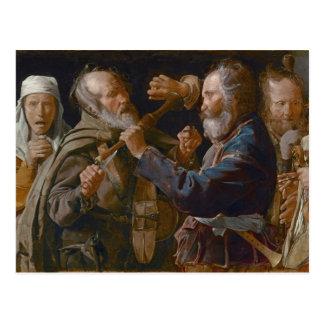 The Beggars' Brawl, c.1625-30 (oil on canvas) Postcard