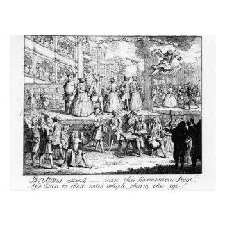 The Beggar's Opera Burlesqued, 1728 Postcard