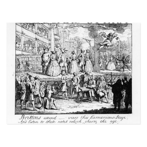 The Beggar's Opera Burlesqued, 1728 Postcards