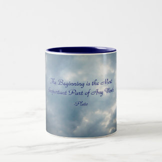 The Beginning is the Most Importan... Two-Tone Coffee Mug