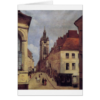 The Belfry of Douai by Camille Corot Card