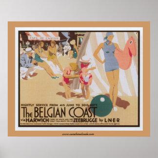 The Belgian Coast Poster
