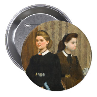 The Bellelli Sisters by Edgar Degas 3 Inch Round Button