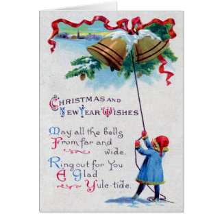 The Bells of Christmas 1911 Vintage Card