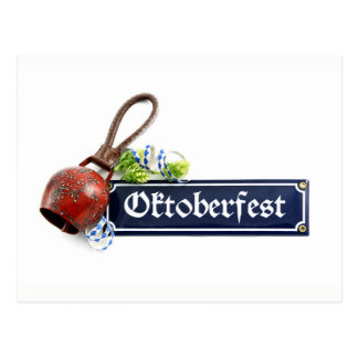 The bells ring to the Octoberfest Postcard