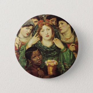 The Beloved by Dante Raphael Rossetti 2 Inch Round Button