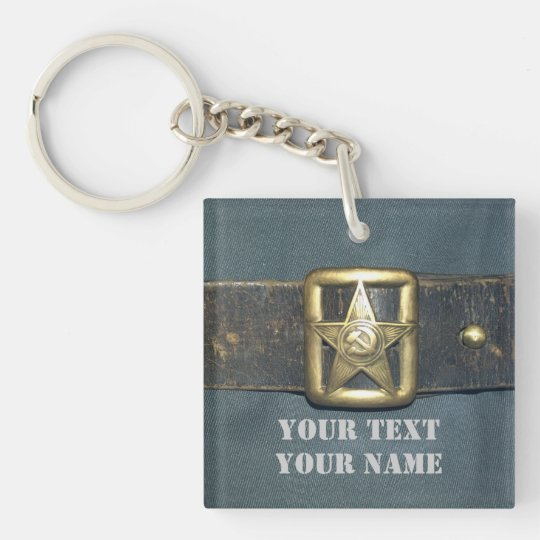 The BELT of the OFFICER of the red army of the RSF Double-Sided Square Acrylic Keychain