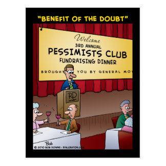 """The Benefit Of The Doubt"" Postcard"