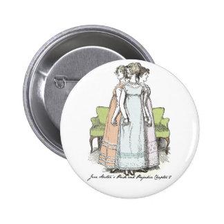The Bennet Sisters - Jane Austen's P&P Ch 2 2 Inch Round Button