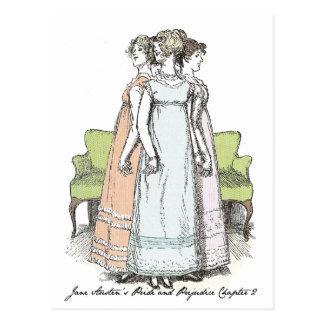 The Bennet Sisters - Jane Austen's P&P Ch 2 Postcard