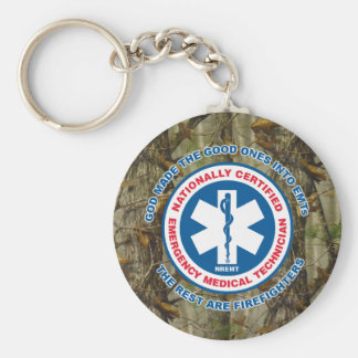 The Best are EMTs, the Rest are Firefighters Keychain