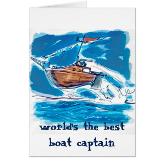 the best boat captain cartoon card