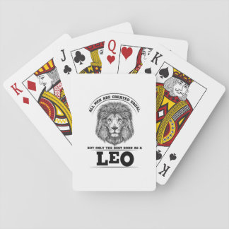 The Best Born As A Leo Zodiac Gift Cool Birthday Playing Cards