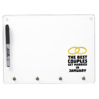 The Best Couples in JANUARY Z00xc Dry Erase Board With Keychain Holder