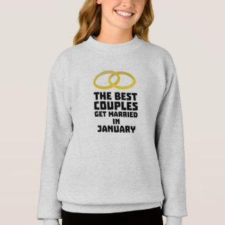 The Best Couples in JANUARY Z00xc Sweatshirt