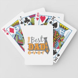 The Best Dad Ever with tie and buttons Bicycle Playing Cards