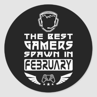 The Best Gamers Spawn in February Round Sticker