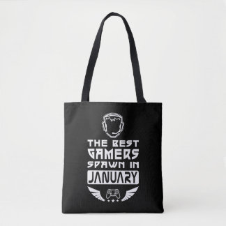The Best Gamers Spawn in January Tote Bag