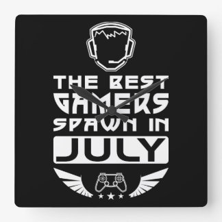 The Best Gamers Spawn in July Square Wall Clock