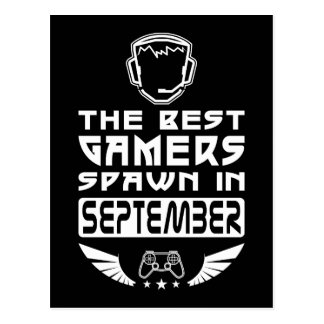 The Best Gamers Spawn in September Postcard
