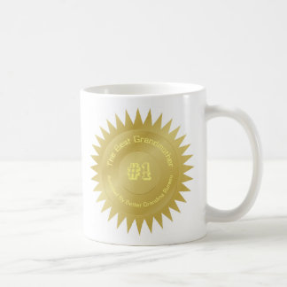 The best grandmother gold medal seal gift coffee mug