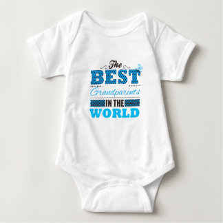 The best grandparents in the world baby bodysuit